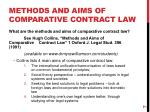 methods and aims of comparative contract law