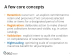 a few core concepts