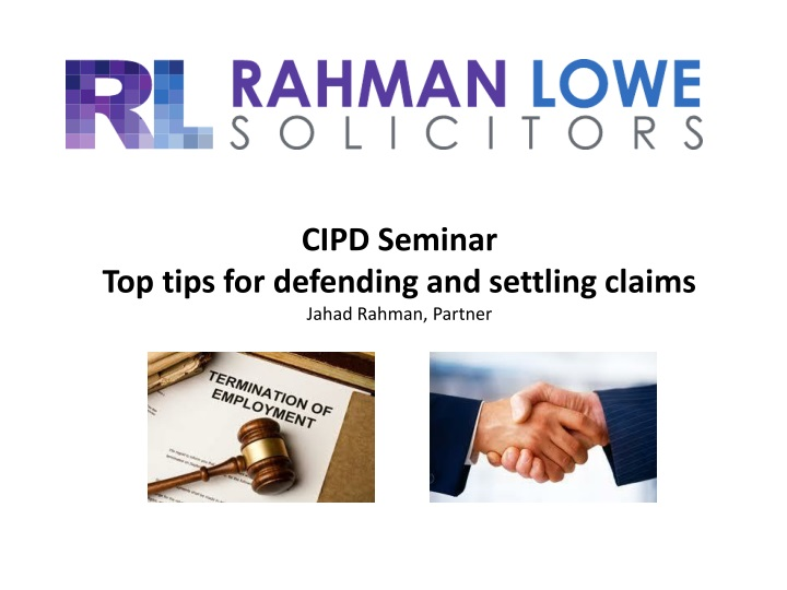 cipd seminar top tips for defending and settling n.