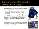 harmonisation of the right of withdrawal in europe