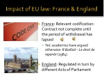 impact of eu law france england