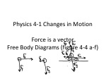 physics 4 1 changes in motion force is a vector free body diagrams figure 4 4 a f