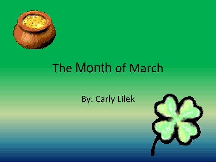 the month of march n.