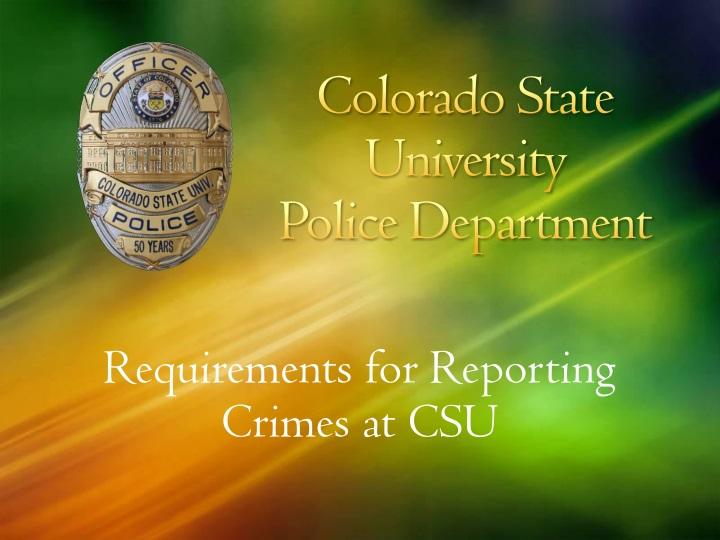 colorado state university police department n.