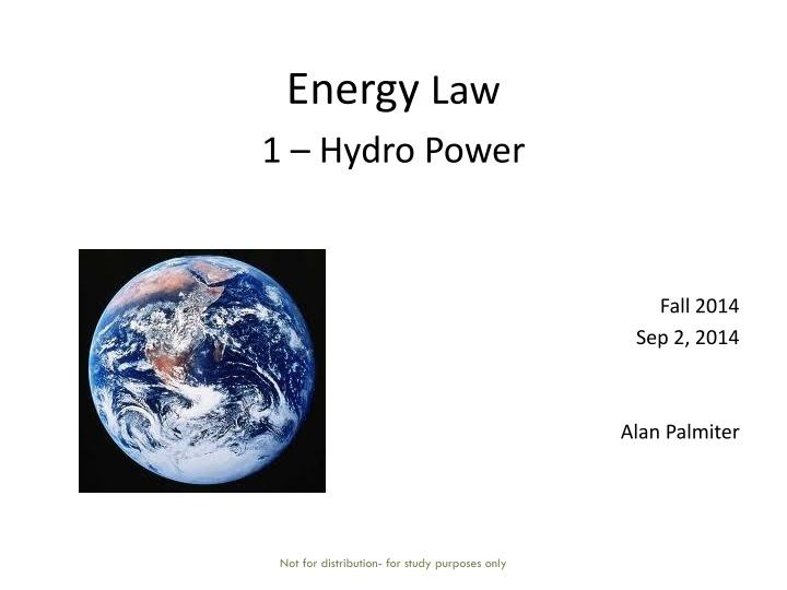 Energy law 1 hydro power