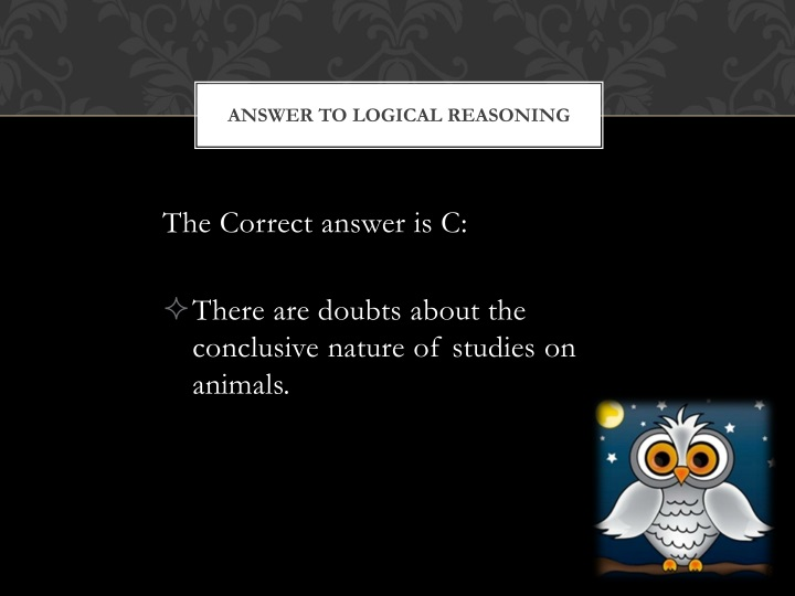Answer to Logical Reasoning