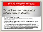 texas law used to require school impact studies