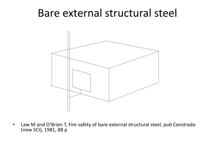 Bare external structural steel