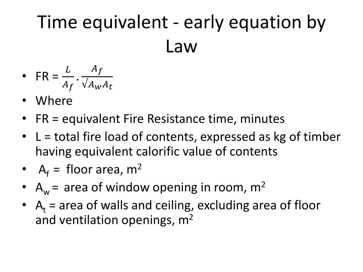 Time equivalent - early equation by Law