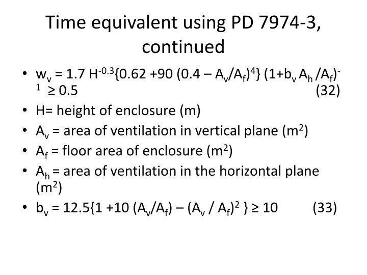 Time equivalent using PD 7974-3, continued