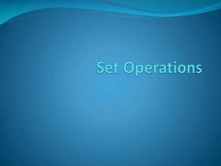 set operations n.