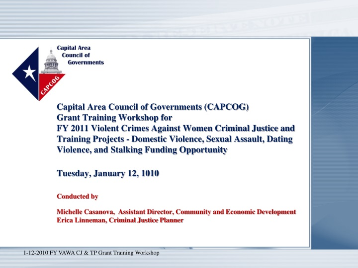 capital area council of governments capcog grant n.