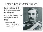 colonel george arthur french