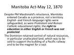 manitoba act may 12 1870