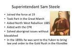 superintendant sam steele