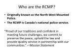 who are the rcmp1