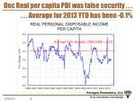 dec real per capita pdi was false security