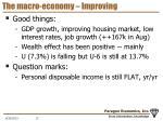 the macro economy improving