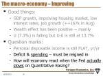 the macro economy improving1