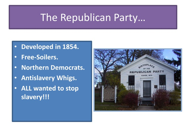 The Republican Party…
