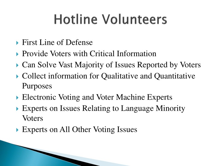 Hotline Volunteers