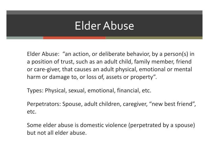 elder abuse essay topics Elderly abuse abuse there is no one good explanation of elder abuse and neglect elder abuse is a difficult problem that can emerge from several different causes.