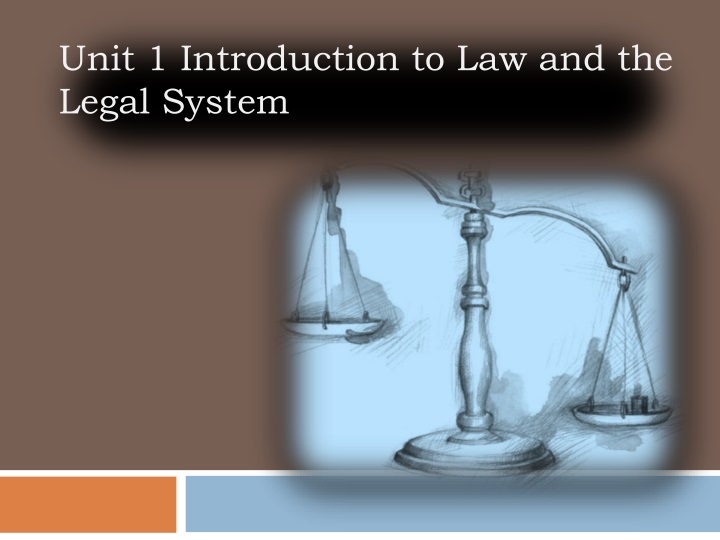 Unit 1 introduction to law and the legal system