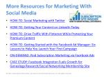 more resources for marketing with social media