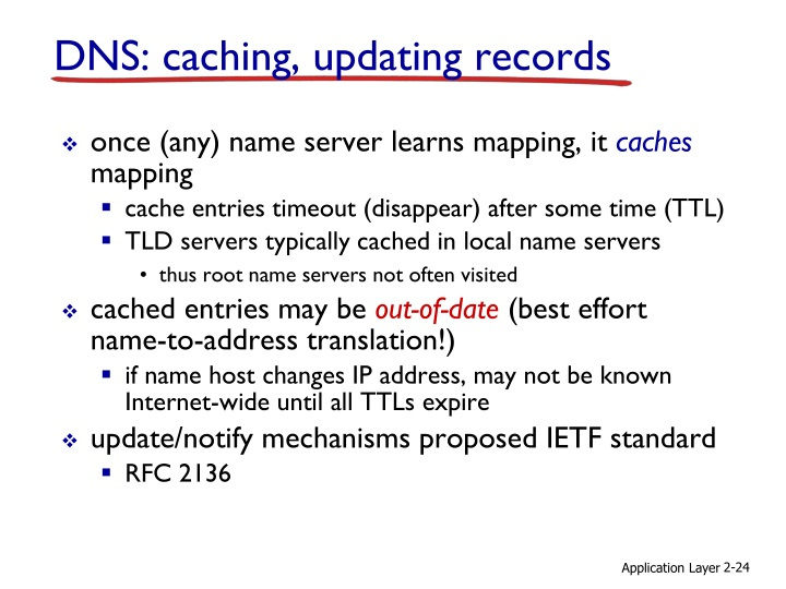once (any) name server learns mapping, it