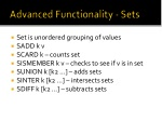 advanced functionality sets