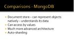 comparisons mongodb