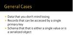 general cases