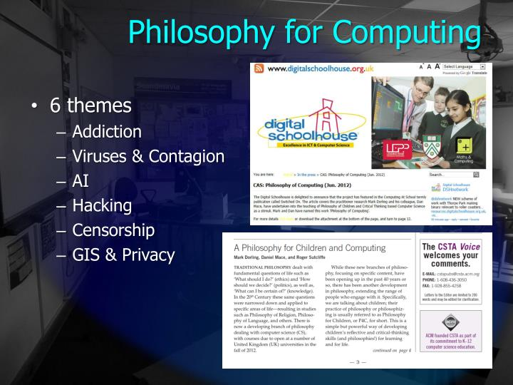 Philosophy for Computing