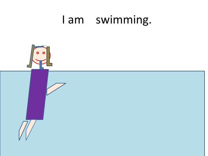I am    swimming.