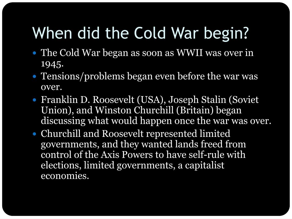 Ppt The Cold War Powerpoint Presentation Free Download Id 1534957