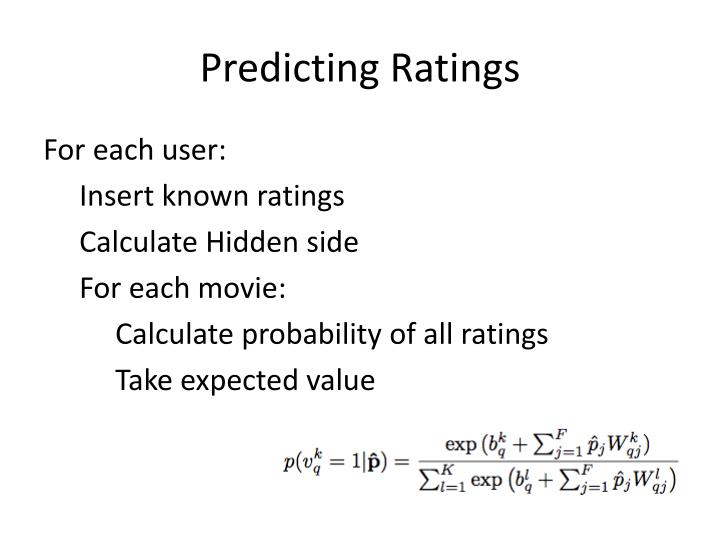 Predicting Ratings
