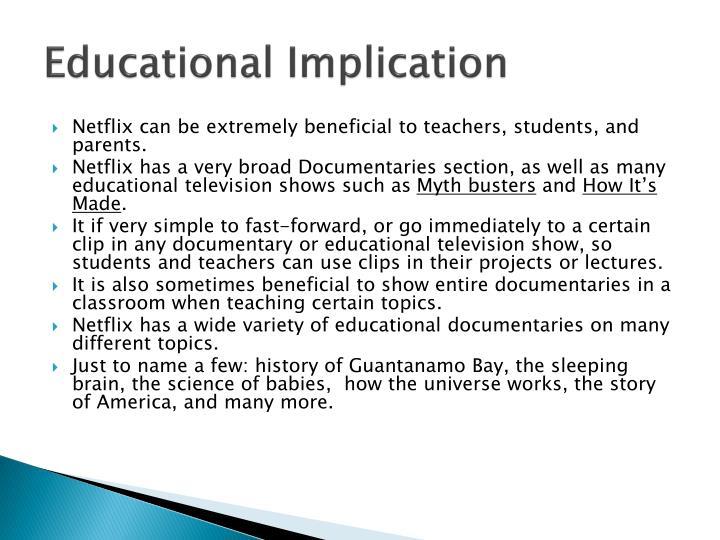 Educational implication