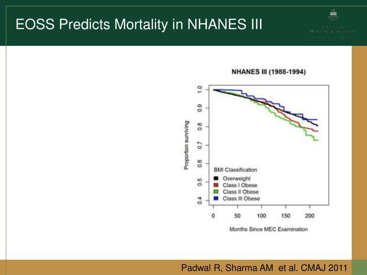EOSS Predicts Mortality in NHANES III