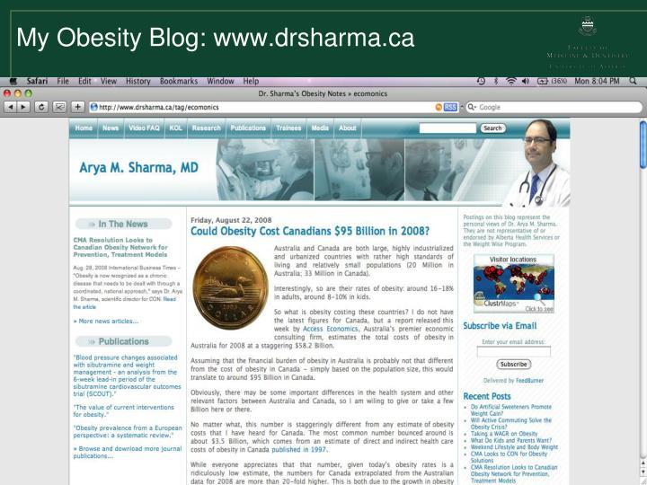 My Obesity Blog: