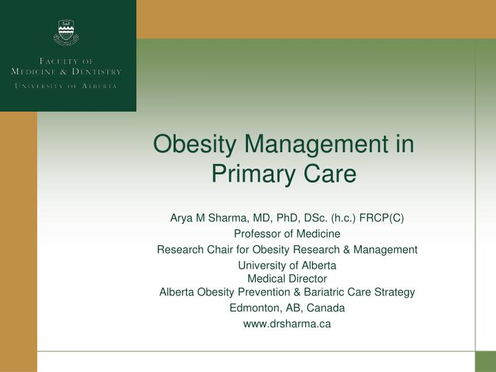 Obesity management in primary care