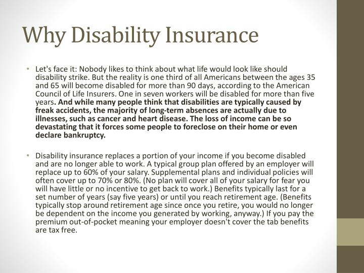 Why Disability Insurance