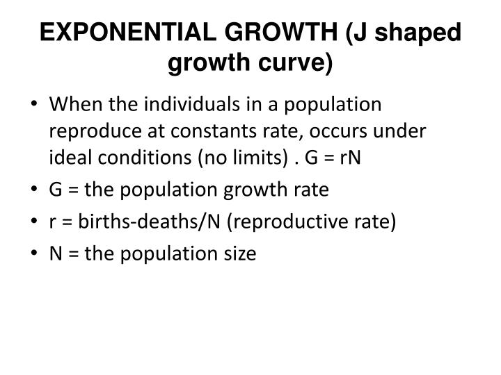 EXPONENTIAL GROWTH (J