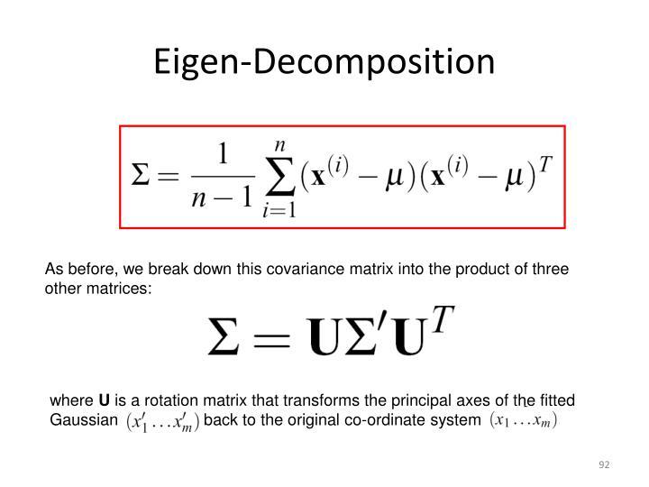 Eigen-Decomposition