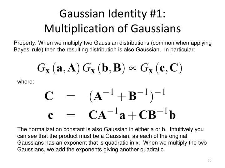 Gaussian Identity #1: