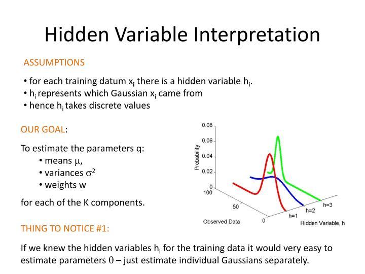 Hidden Variable Interpretation
