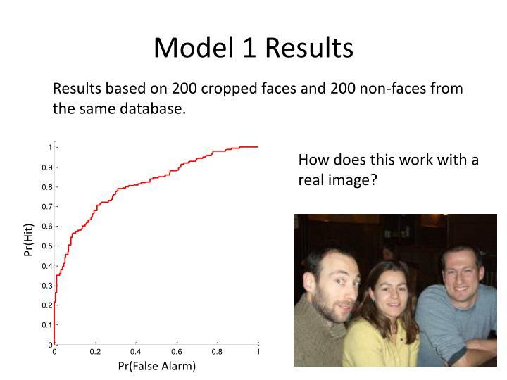 Model 1 Results