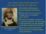 capt thomas youngs seymour models the brass dragoon helmet for your edification
