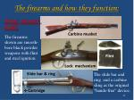 the firearms and how they function