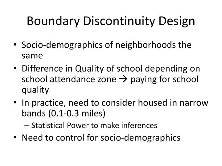 Boundary Discontinuity Design