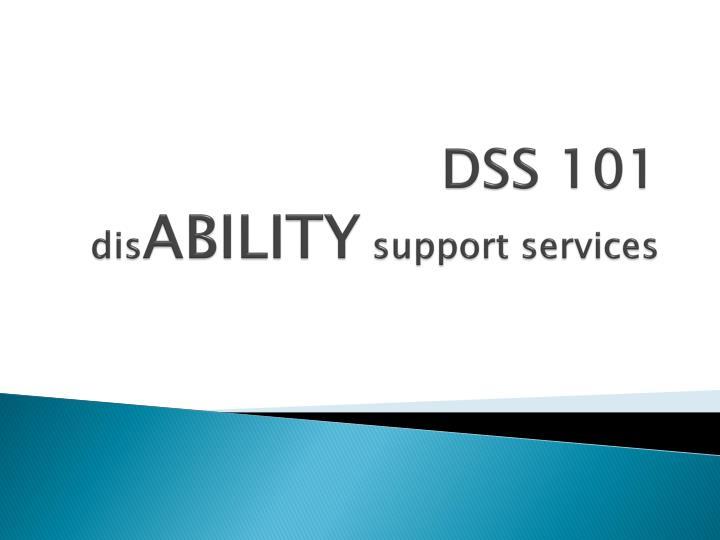 DSS 101